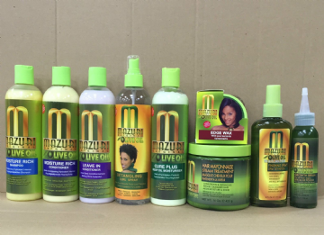 MAZURI OLIVE OIL TREATMENTS FOR NATURAL, RELAXED OR CURLY  HAIR PRODUCTS